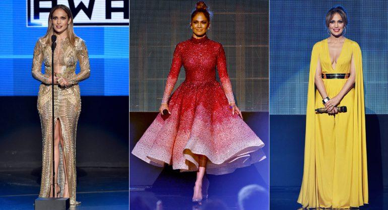 Los outfits de JLo en los AMA 2015
