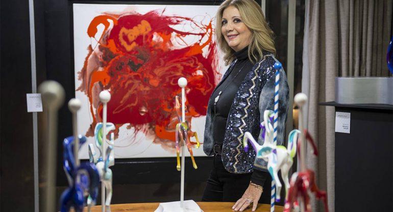 Mónica Olea en el Pedregal Art Sale