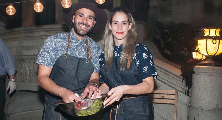 Manolo González y Bárbara Gutiérrez en la Cena de Burbujas