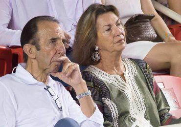 Manuel y Marie Thérèse Arango en la final del Abierto de Tenis Mexicano