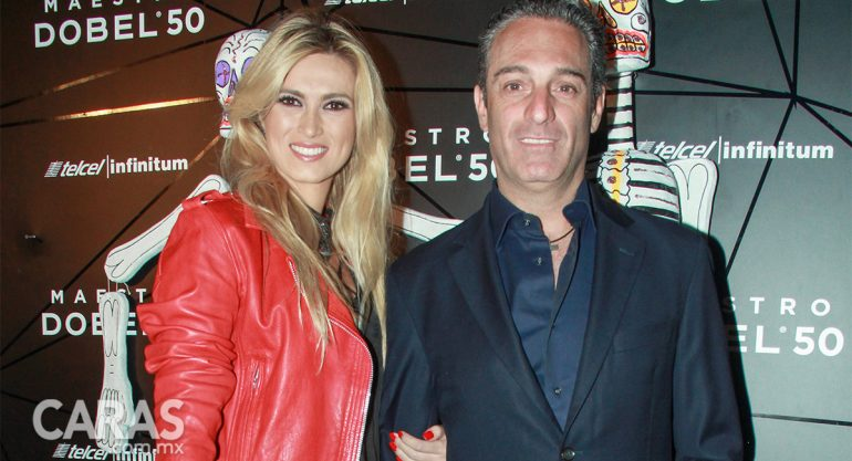 María Elena Torruco y Carlos Slim Domit en la Fiesta Maestro Dobel