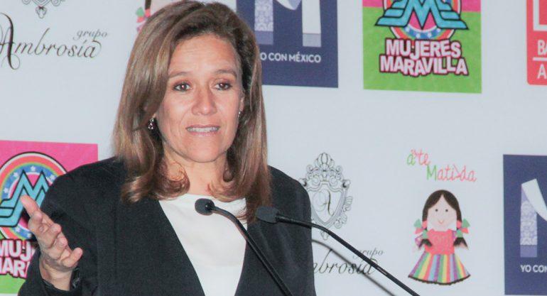 Margarita Zavala en el evento 'Mujeres Maravilla'