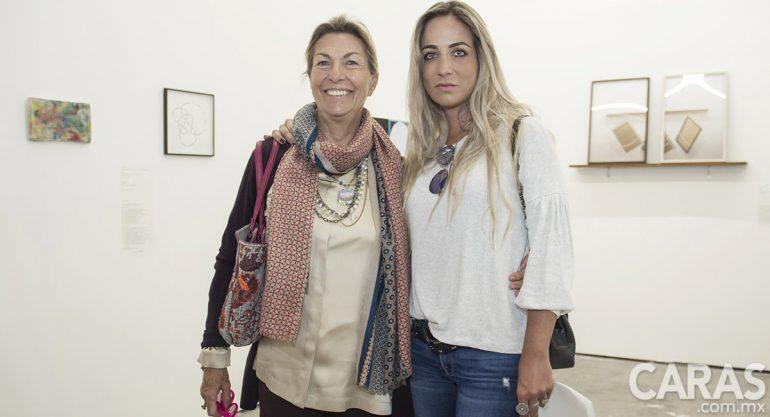 Marie Thérèse y Paula Arango en la Feria de Arte Material