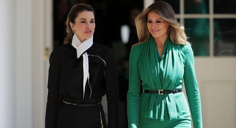 Melania Trump vs Rania de Jordania