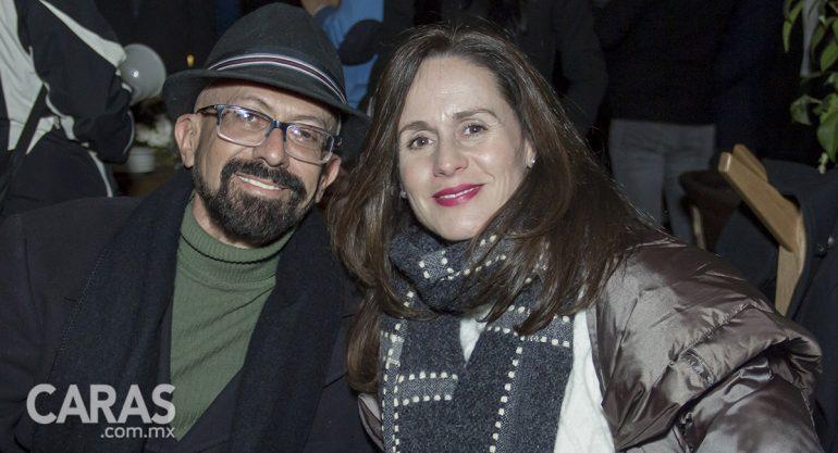 Oscar Román y Karen Otero en el testing & cocktails de Glen Grant