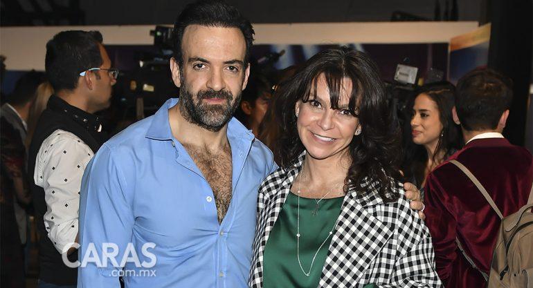 Pablo Perroni y Mariana Garza en la fiesta de Les Misérables