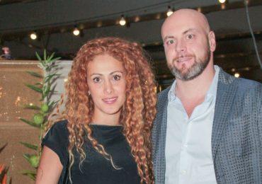 Pamela Blossom y Stefano Uboldi en el coctel de Caravana Americana