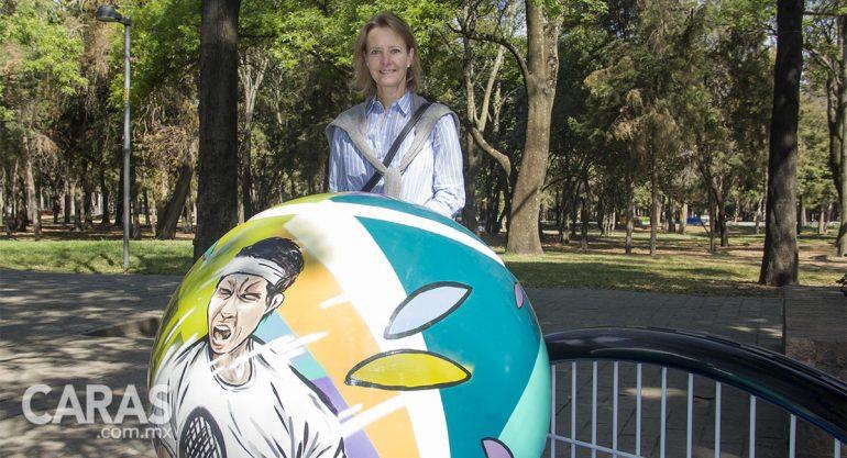 Patty Soldati en el Tenis Parade del Abierto Mexicano