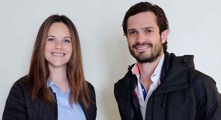Presentan al bebé de Sofía y Carlos Felipe de Suecia