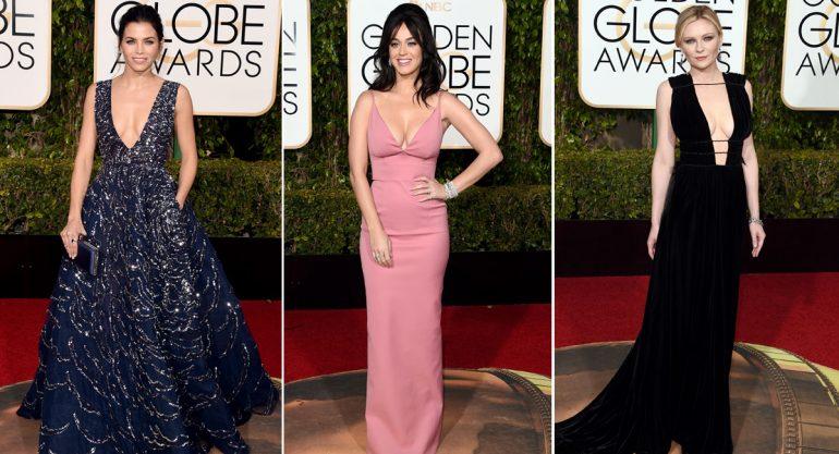 Reveladores escotes en los Golden Globes 2016