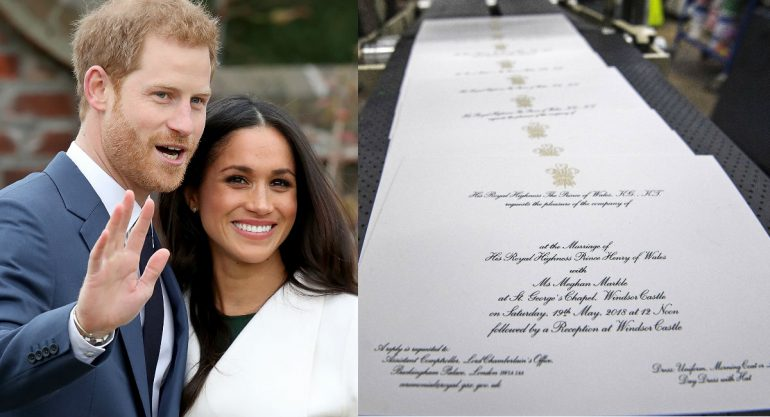 Royal wedding: El príncipe Harry y Meghan Markle enviaron las primeras invitaciones