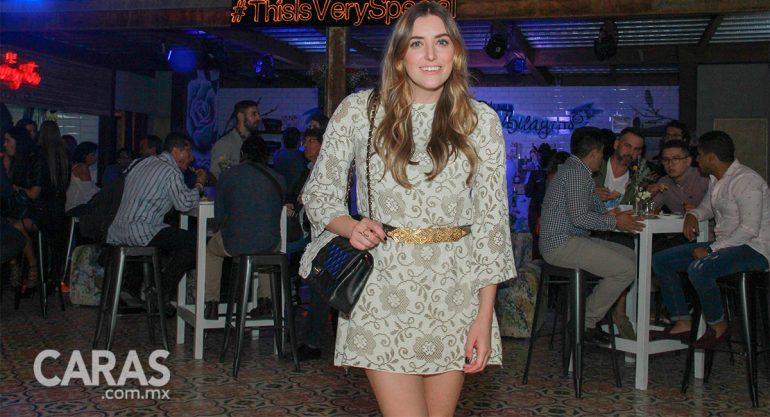 Sofía Lascurain en la fiesta privada a Barra México