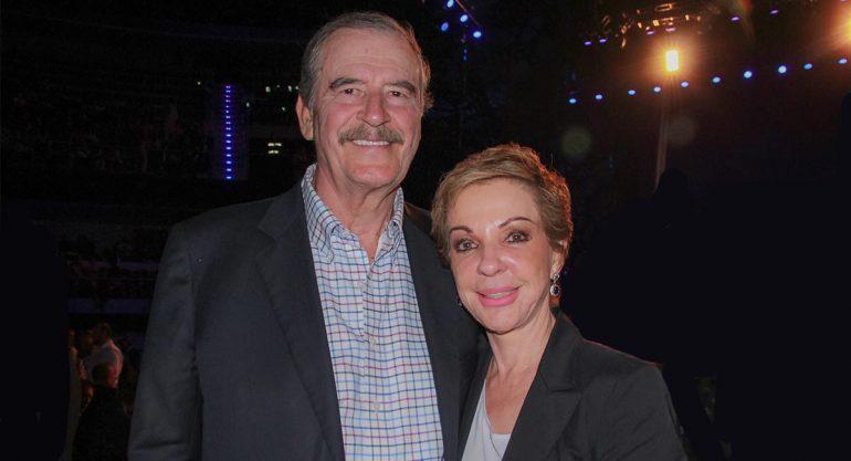 Vicente Fox y Marta Sahagún en el concierto de Plácido Domingo