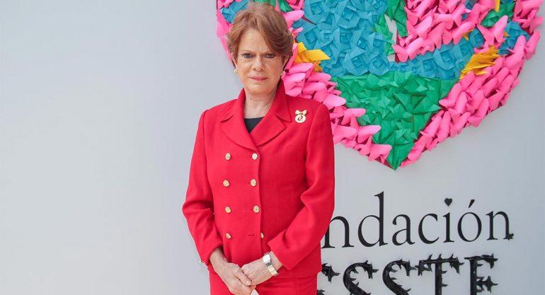 Virginia Sendel en la presentación de la Fundación ISSSTE 2017