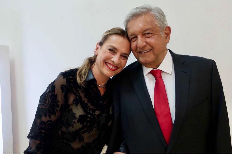 Beatriz Gutiérrez Müller y Andrés Manuel López Obrador