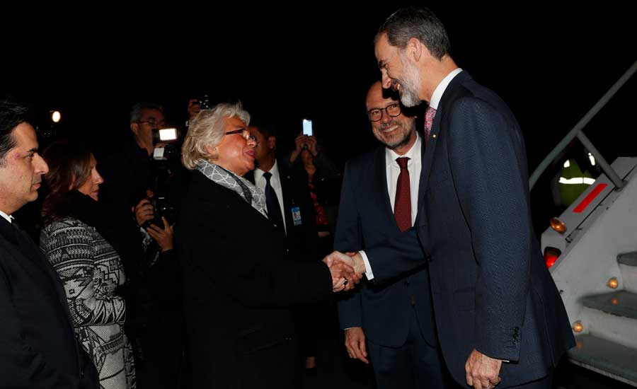 La bienvenida al rey Felipe VI