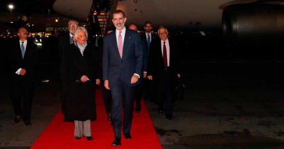 El rey Felipe VI llegó a México
