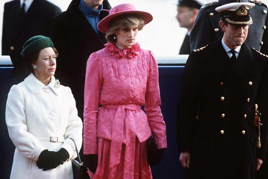 Princesa Margaret, Lady di y el príncipe Carlos