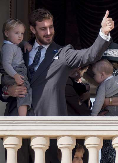 Pierre Casiraghi y su hijo Stefano