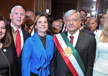 Mike Pence e Ivanka Trump, López Obrador y Beatriz Gutiérrez