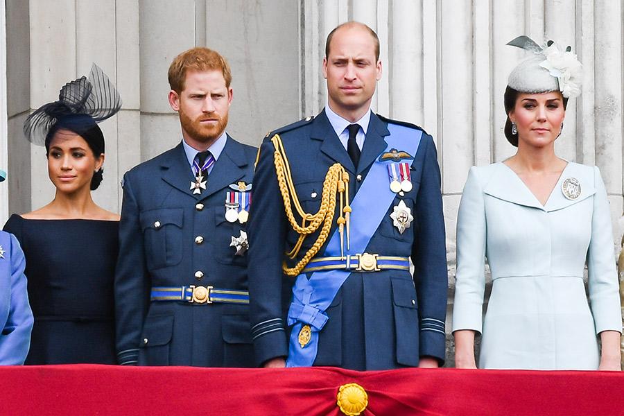El príncipe Harry, Meghan, William y Kate