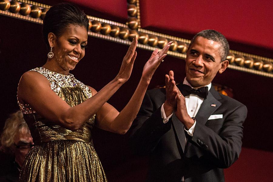 Michelle Obama y su esposo
