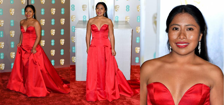 Yalitza Aparicio En Un Vestido Rojo De Alberta Ferreti
