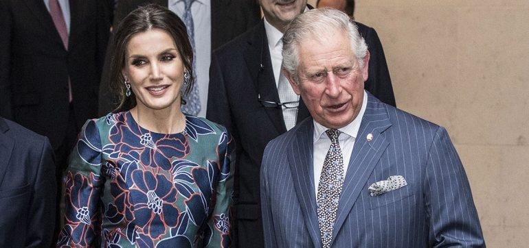 Reina Letizia y príncipe Carlos