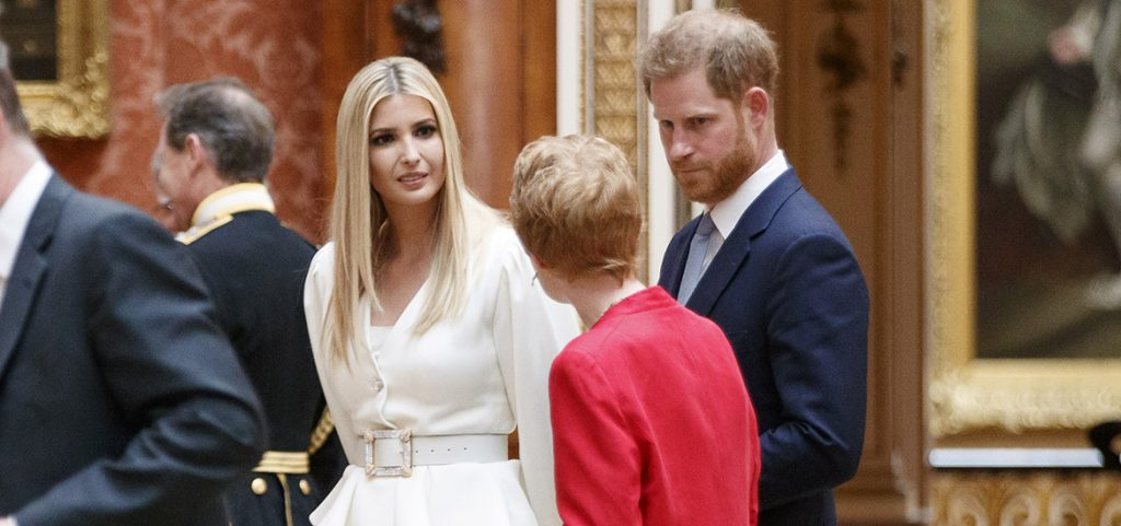 príncipe Harry e Ivanka Trump