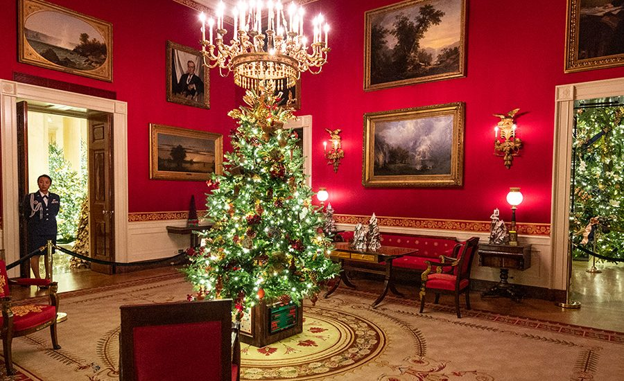 Christmas Arrived At The White House