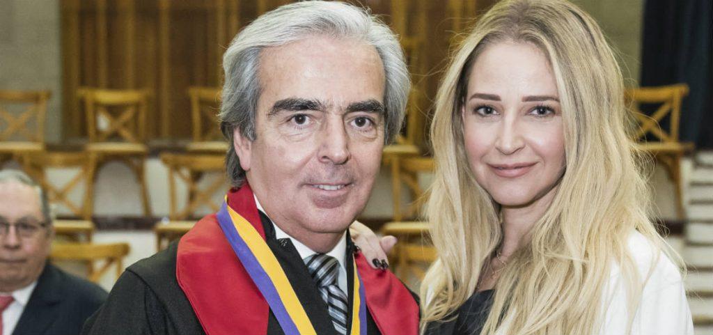 Lorenzo Lazo y su nueva novia Lourdes Peláez