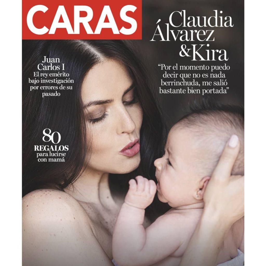 Claudia Álvarez posa por primera vez con Kira