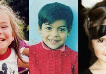 Cómo eran los famosos de niños