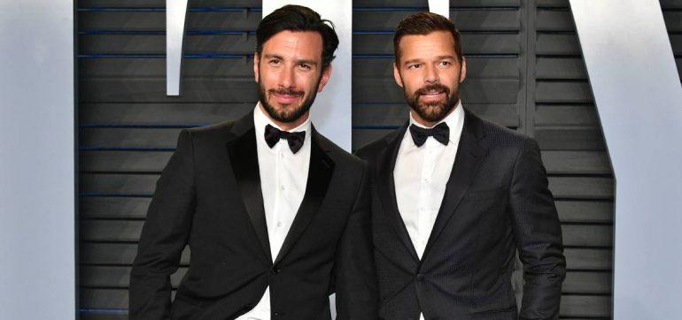 El apasionado beso de Ricky Martín y su esposo