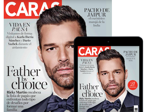 Ricky Martin en la portada de junio de CARAS México