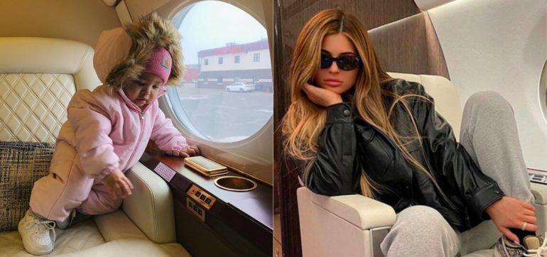 Fotos asi es jet privado rosa Kylie Jenner