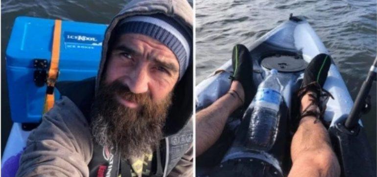 Hombre perdido mar ultimos momentos vida