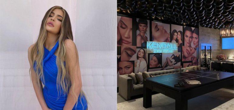 Kylie Jenner transforma sotano lujoso cine