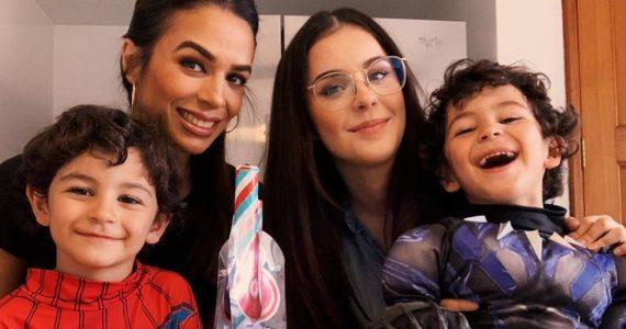 Biby gaytán celebra los 6 años de sus gemelos