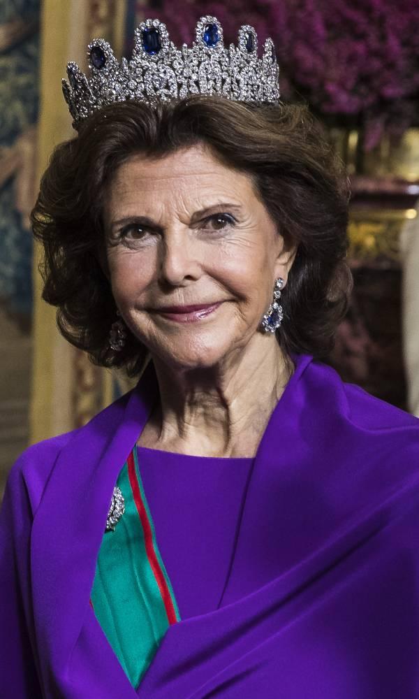 La reina sylvia de suecia