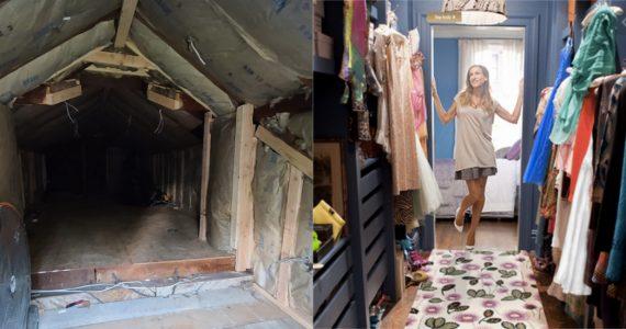hombre transforma atico closet soñado esposa