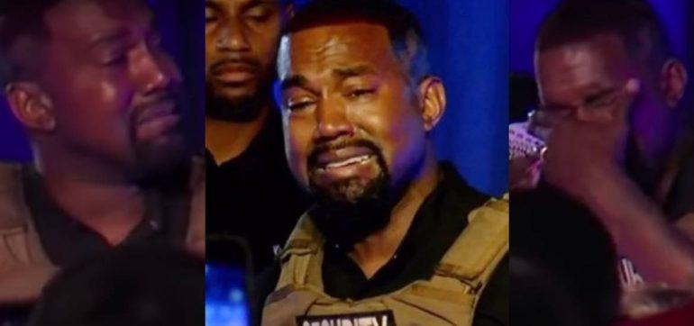 Kanye West llora en su primer discurso rumbo a las presidenciales