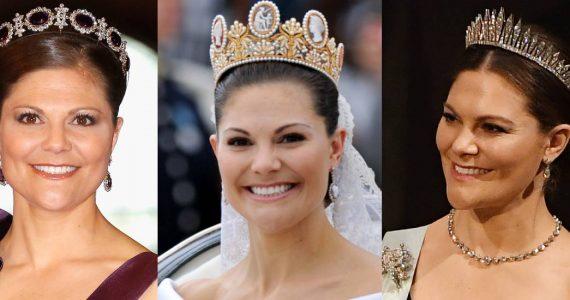 Las coronas de la princesa Victoria de Suecia