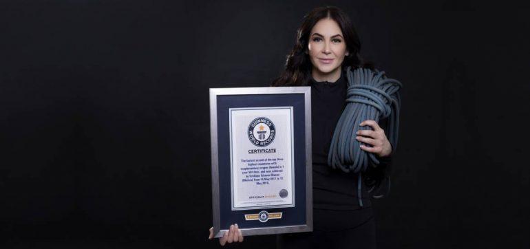 Viridiana Álvarez rompe récord ginness