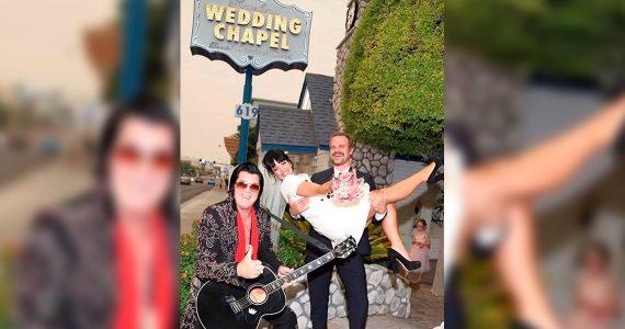 Lily Allen su boda en las vegas