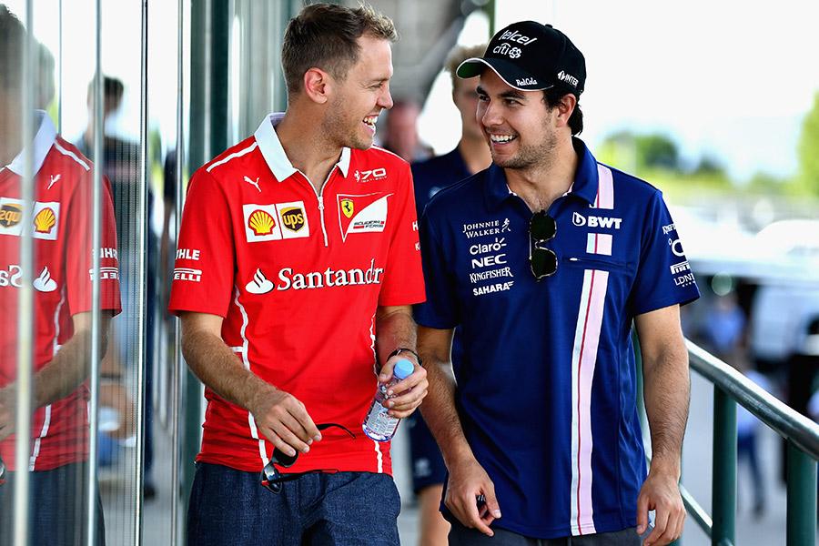 Vettel y checo Pérez