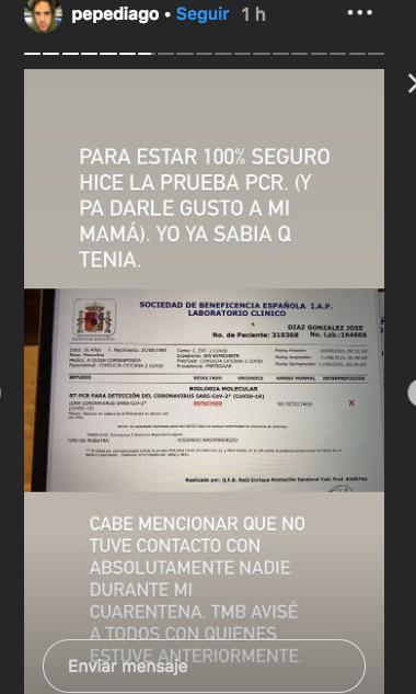 Pepe Diaz tuvo covid-19