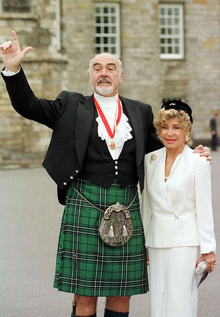 Sir Sean Connery estuvo acompañado de su esposa Micheline