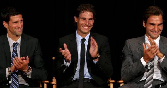 Nadal Federer y Djokovic