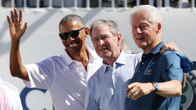ex presidentes bush clinton obama covid